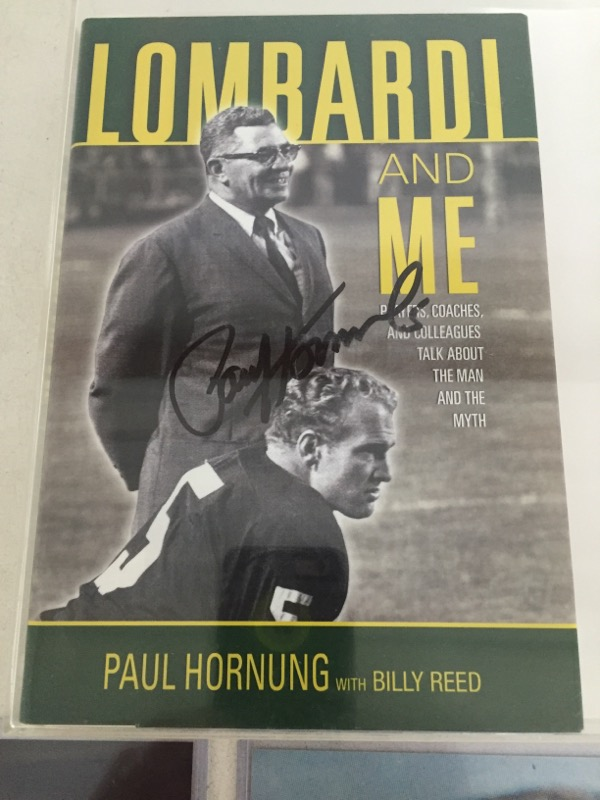 GB Packers Paul Hornung Signed Golden Boy & Lombardi & Me BOOKS & More