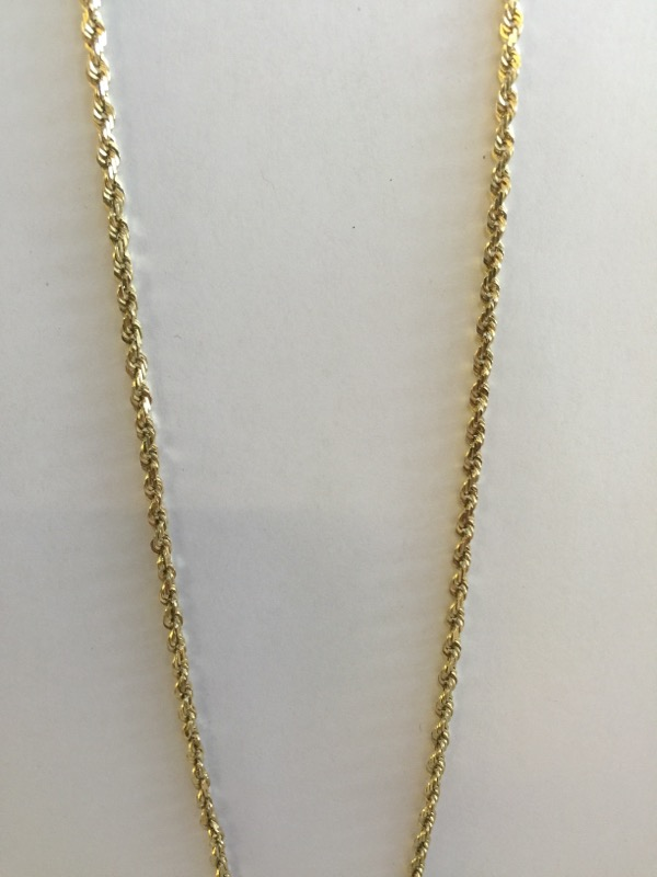 "22"" Gold Chain 14K Yellow Gold 7.4dwt"