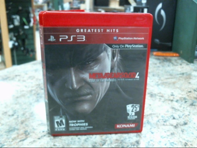 SONY Sony PlayStation 3 Game METAL GEAR SOLID 4