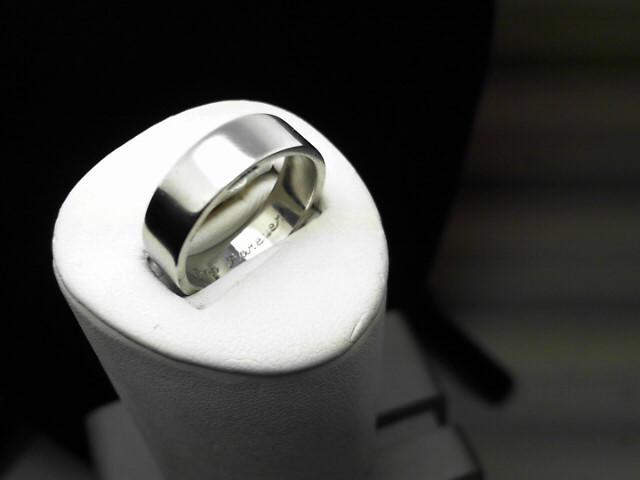 Gent's Platinum Ring 950 Platinum 6.1g Size:8.3