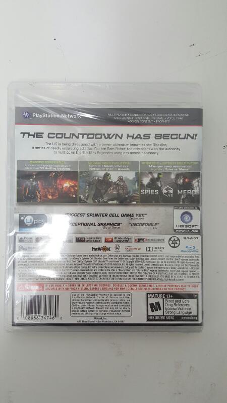 SONY Sony PlayStation 3 PS3 SPLINTER CELL BLACKLIST