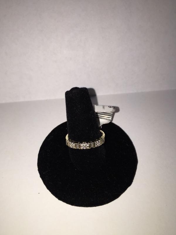 Lady's Diamond Cluster Ring 12 Diamonds .36 Carat T.W. 10K Yellow Gold 1dwt
