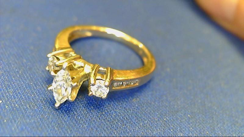 Lady's Diamond Engagement Ring 9 Diamonds .63 Carat T.W. 14K Yellow Gold 3.3g