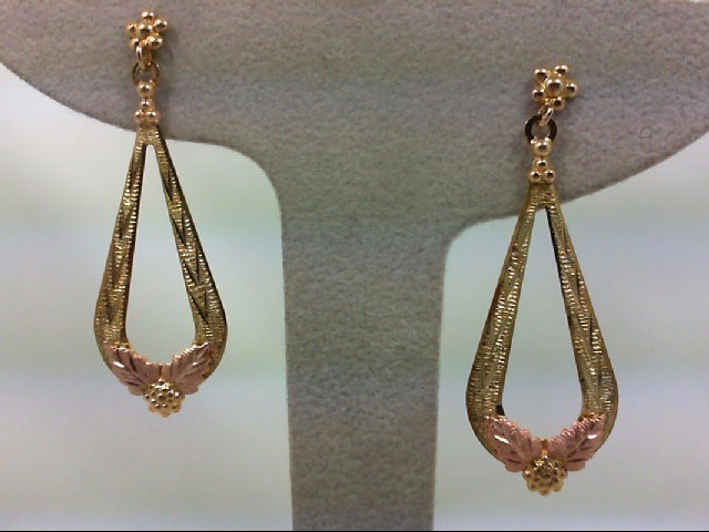 Gold Earrings 10K Tri-color Gold 2.9g
