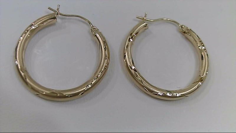Gold Hoop Earrings 14K Yellow Gold 1.7g