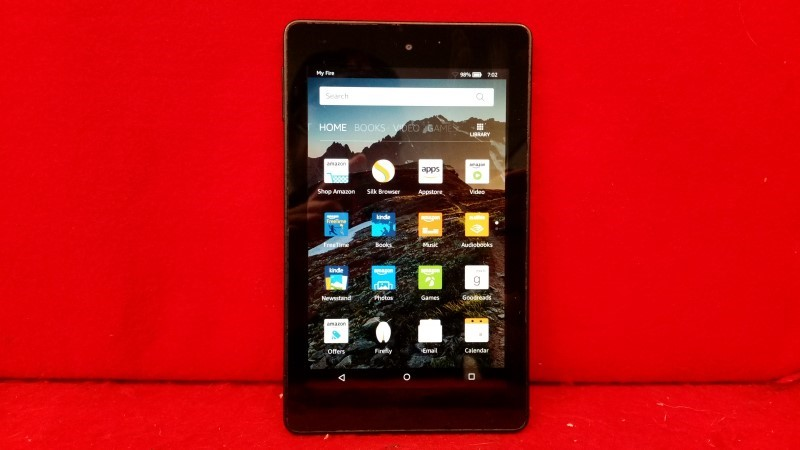 Amazon PW98VM Fire HD6 Tablet 6in 1GB 1.5GHz Fire OS Sangria 4 Black Size: 8GB