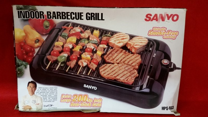 Sanyo HPS-SG3 Electric Indoor Barbeque Grill Black