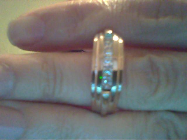 Gent's Diamond Fashion Ring 5 Diamonds .50 Carat T.W. 14K White Gold 7.6g
