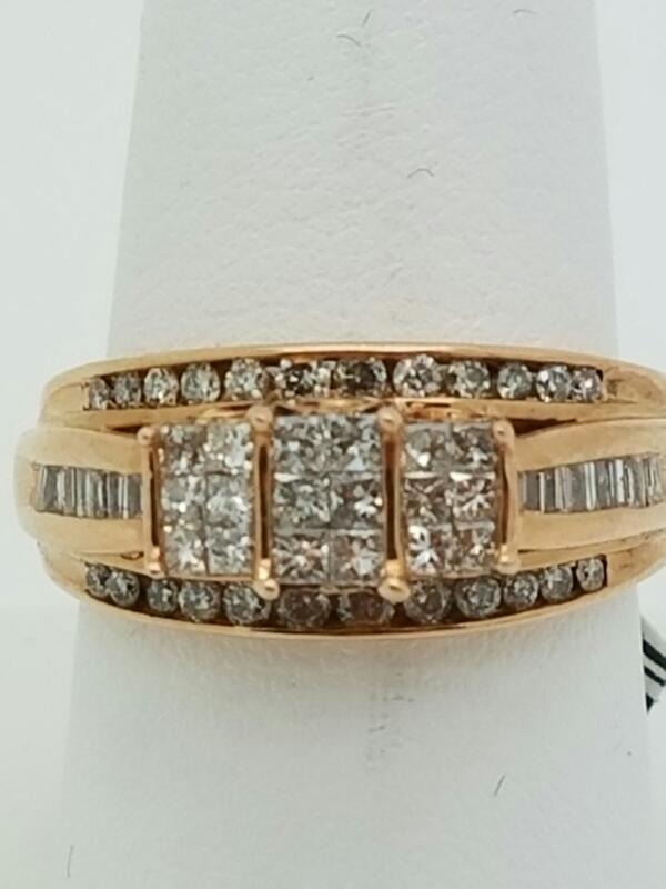 DIAMOND Lady's Diamond Engagement Ring 58 Diamonds 1.26 Carat T.W.