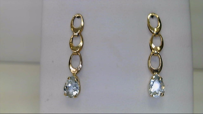 ESTATE YG PEAR AQUA DANGLE ERARINGS