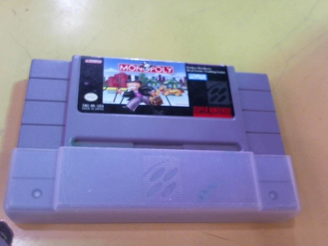 NINTENDO Nintendo NES Game SUPER NINTENDO MONOPOLY