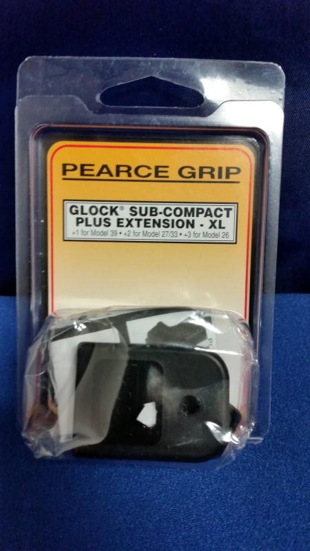 PEARCE GRIP PG-39 GRIP EXTENSION GLOCK 39/27/33/26