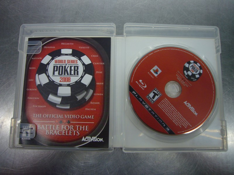SONY PlayStation 3 Game WORLD SERIES OF POKER 2008