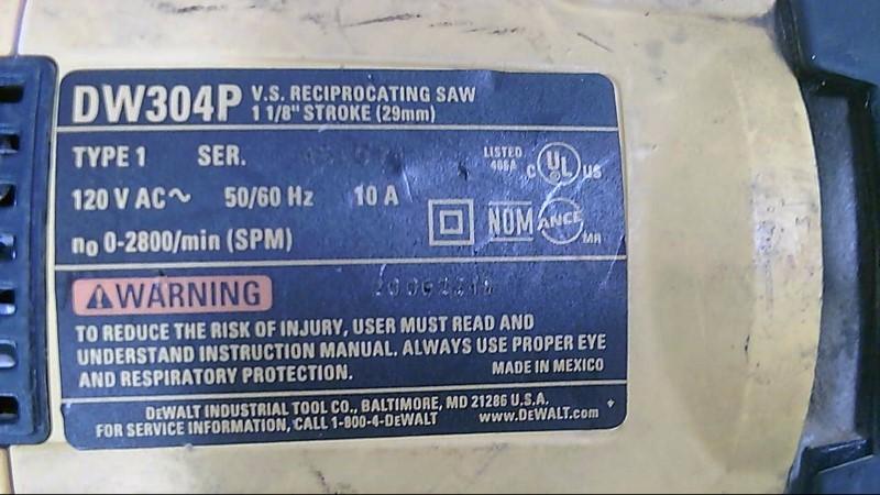 DEWALT Reciprocating Saw DW304P RECIPROCATING SAW