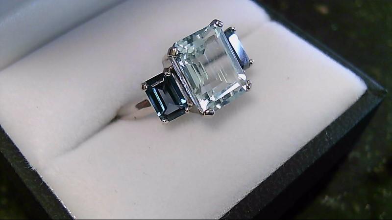 Aquamarine & Mystic Topaz 10K White Gold Ring