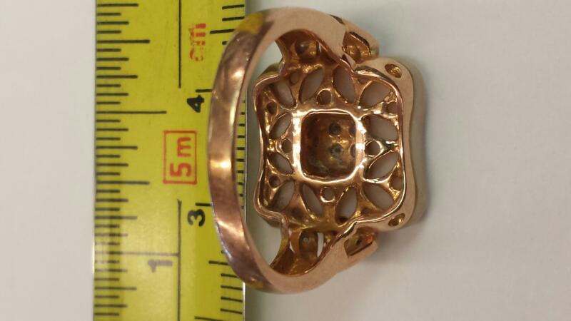 Lady's Gold Ring 14K Rose Gold 3.48dwt