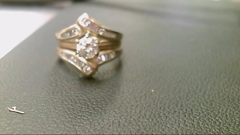 Lady's Diamond Wedding Set 23 Diamonds 1.04 Carat T.W. 14K Yellow Gold 8g