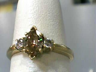 Lady's Diamond Engagement Ring 3 Diamonds .60 Carat T.W. 18K Yellow Gold 1.5dwt