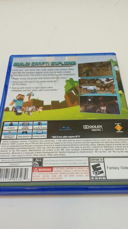 SONY PLAYSTATION 4 MINECRAFT VIDEO GAME]