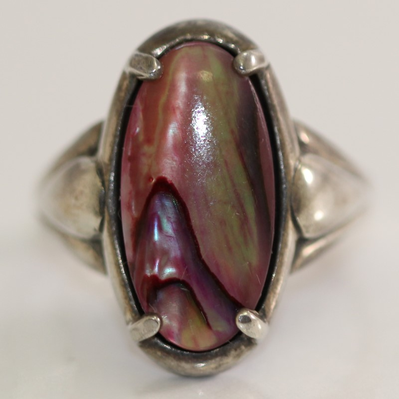 Sterling Silver Oval Cut Brown Stone Ring Size 7