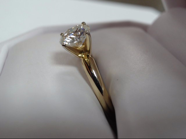 Lady's Moissanite Solitaire Ring 1.00 CT. 14K Yellow Gold 2g