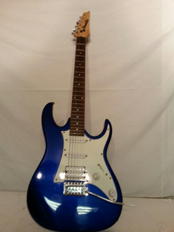 Ibanez Electric Guitar GRX-40 - Blue RH 6-String - Free Shipping! [