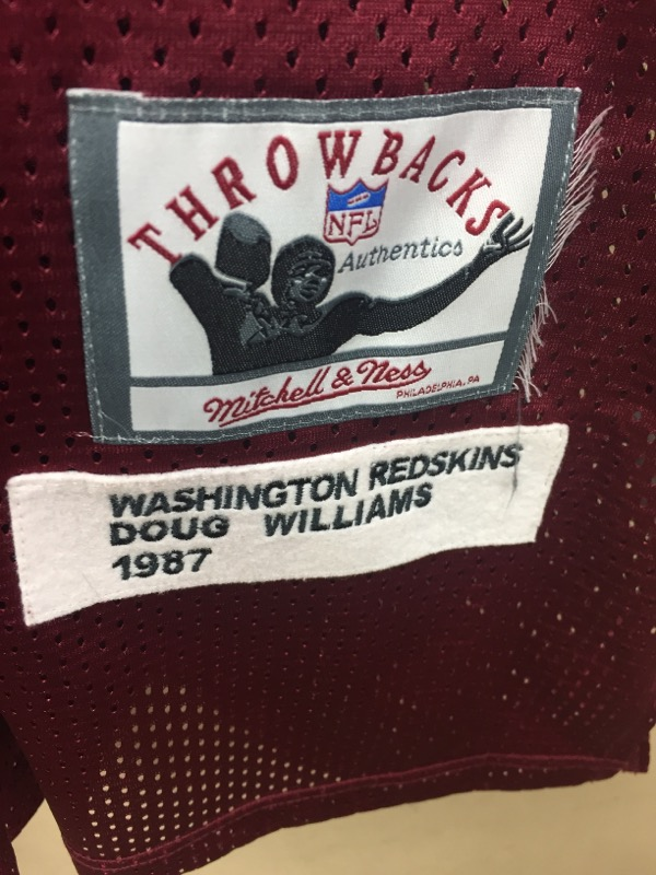 MITCHELL & NESS Sports Memorabilia DOUG WILLIAMS THROWBACK 1987