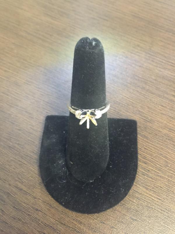 Lady's Diamond Engagement Ring Mount 18 Dia .50 Carat T.W. 14K White Gold 3.3g