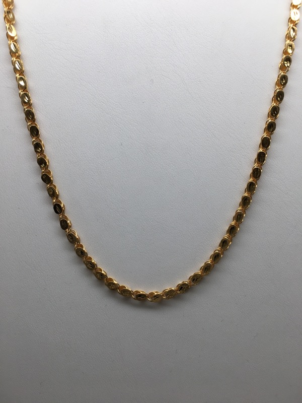 "20.5"" FASHION STYLE CHAIN 21K YG GOLD"