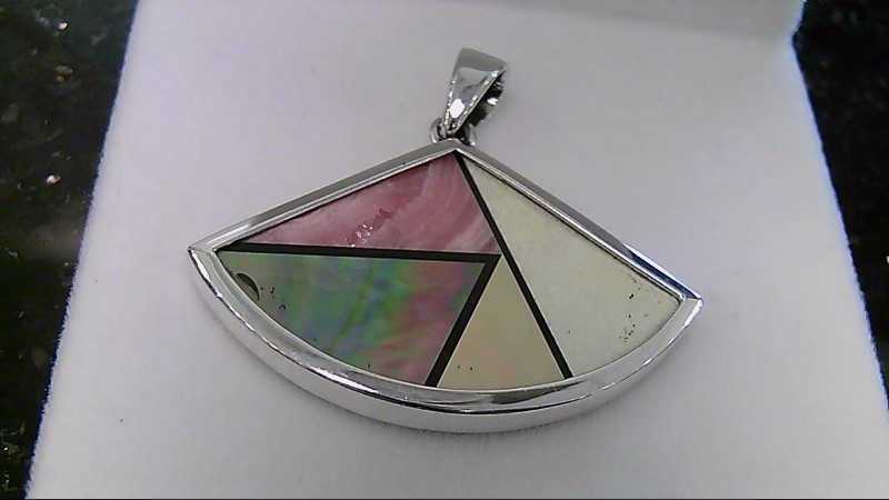 Mother of Pearl Sterling Silver Pendant 925 8.3G