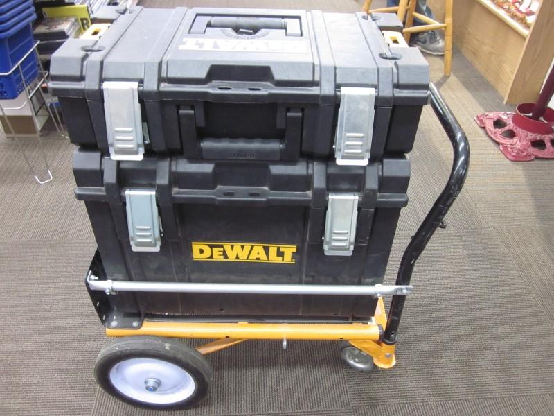 DEWALT TOUGHSYSTEM TOOL BOX SET ON CART