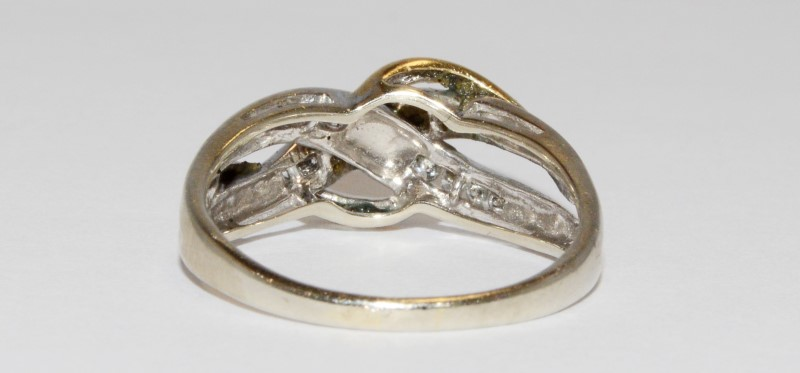 Women's Intertwined Two-Toned Channel Set Diamond Ring Size 9.7