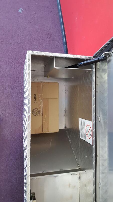 "WEATHERGUARD Tool Storage Box 173-0-01 - 46-3/4"" PORK CHOP TRUCK BOX - ALUMINUM"