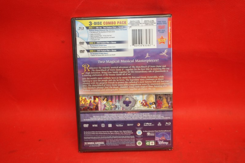 The Hunchback of Notre Dame (Blu-ray/DVD, 2013, Widescreen, 2-Movie Collection)