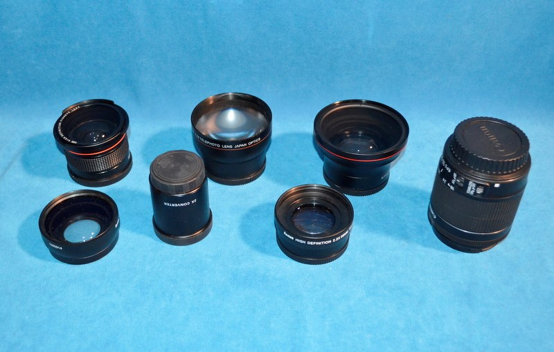 CANON Digital SLR Camera EOS REBEL T5I SET W/ 7 LENSES & BAG