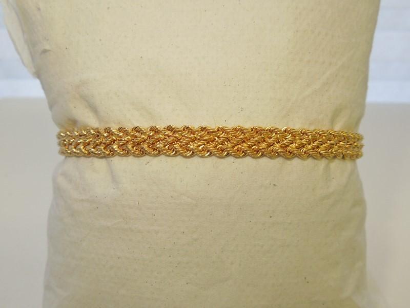 Gold Bracelet 14K Yellow Gold 3.7g