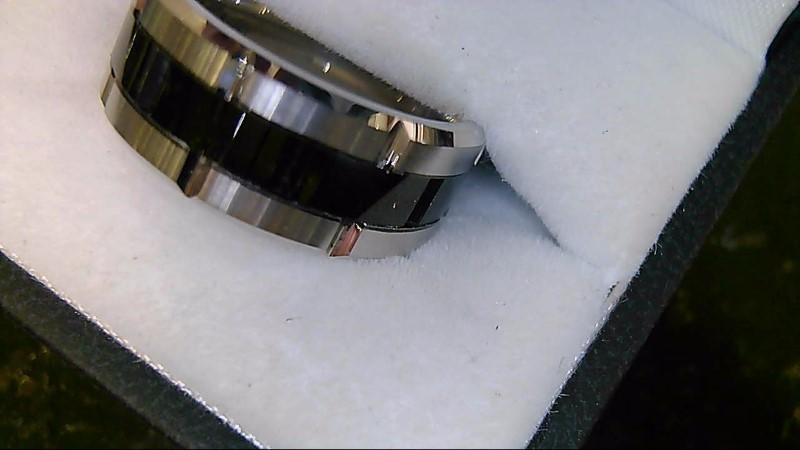 Tungsten Black and Silver Wedding Band 18.3G SZ 8.5