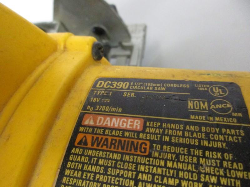 DEWALT DC390 18V CORDLESS CIRCULAR SAW