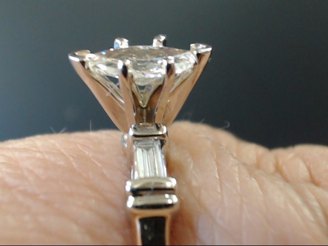 VINTAGE MARQUISE NATURAL DIAMOND ENGAGE WED RING 14K GOLD SIZE 6.5