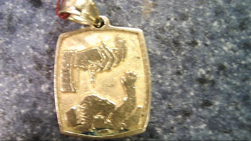 Gold Pendant 14K Yellow Gold 1.9g