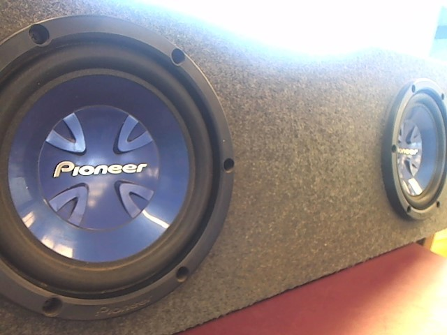 "PIONEER 10"" SUBS IN ENCLOSURE"