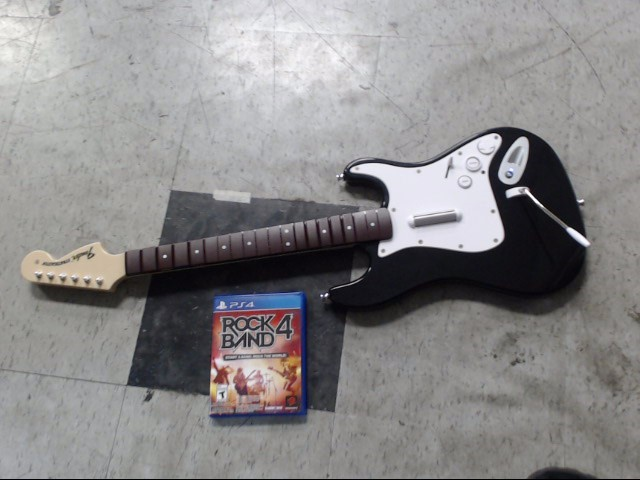 ROCK BAND 4 FENDER STRATOCASTER GUITAR, W/ GAME,
