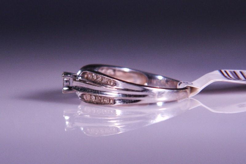 Lady's Diamond Cluster Ring 24 Diamonds .24 Carat T.W. 10K White Gold 2.7g