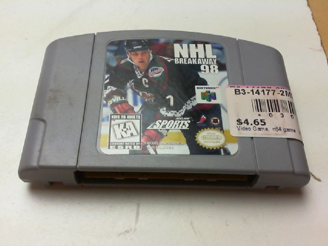 NINTENDO Nintendo 64 Game 64 NHL BREAKAWAY 98