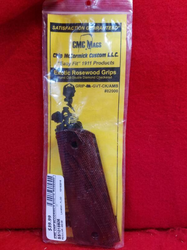 CMC Chip McCormick Exotic Rosewood Grips - Fit's 1911 - GRIP-GOVT-CK