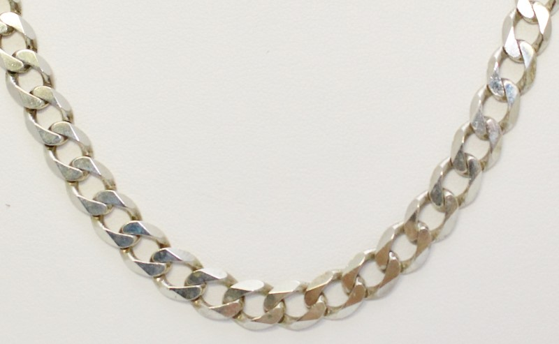 "Sterling Silver 25"" HEAVY 40G 7.5MM Italian Curb Link Chain Necklace"