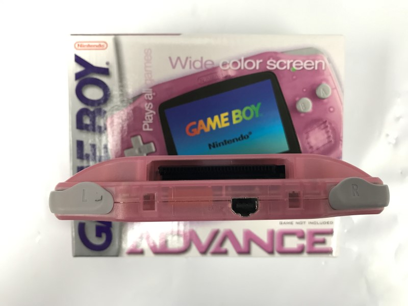 Nintendo Gameboy Advance Handheld Game Console - Fuscia Pink w/ Cord