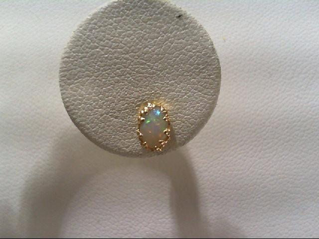 Gold Stone Earrings 14K Yellow Gold 0.4g