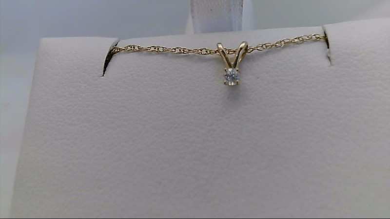 Yellow Gold Diamond Pendant with Chain