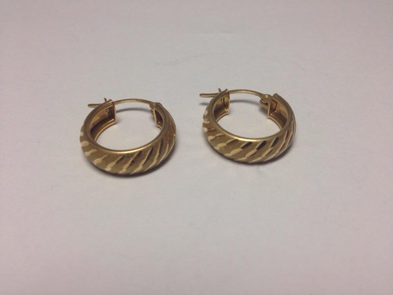 Gold Earrings 18K Yellow Gold 3g